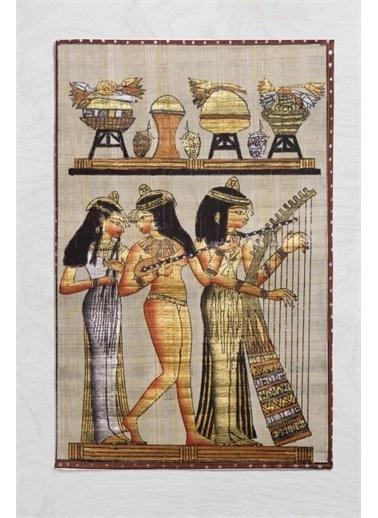 Else Halı Mısır Etnik Figürlü Kadınlar Tek Kişilik 3D Desenli Battaniye Renkli